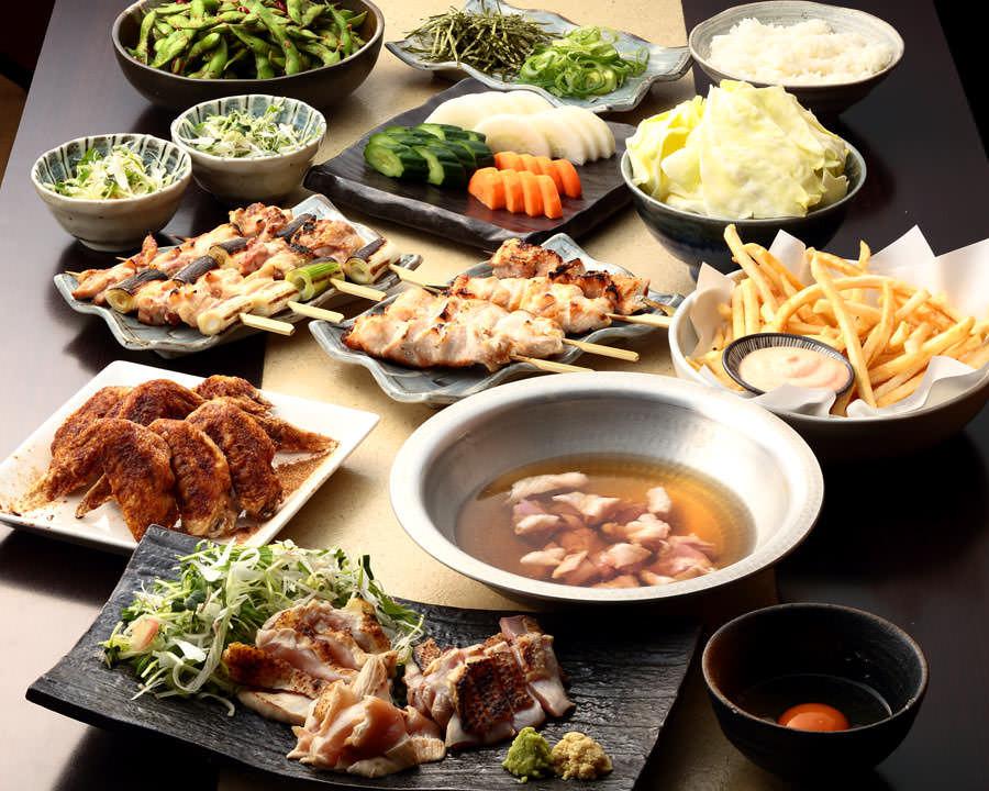 とりいちず酒場 八王子北口駅前店の鶏料理を満喫できる〈食べ放題×飲み放題コース〉