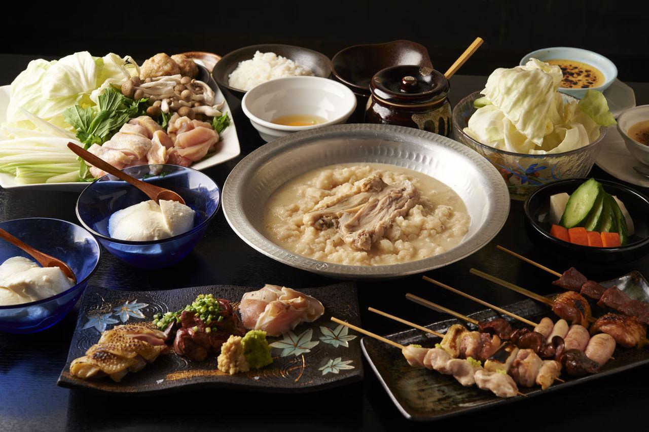とりいちず酒場 八王子北口駅前店の鶏料理が満喫できるコース